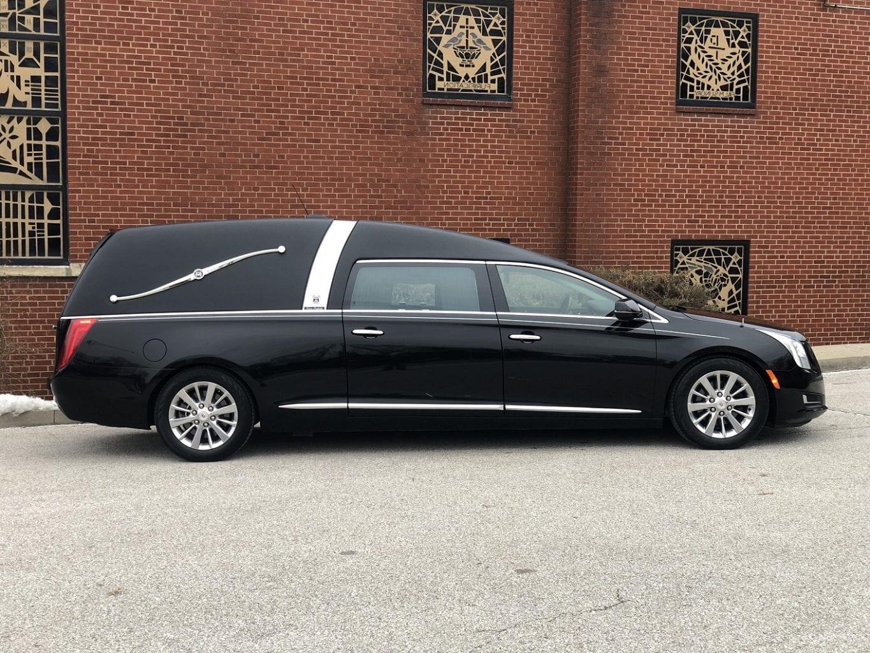 2015 Armbruster Stageway Black Crown Landaulet Funeral Hearse 1