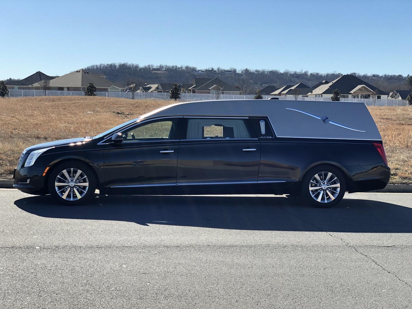 2015 Silver Black Cadillac Platinum Funeral Hearse 1