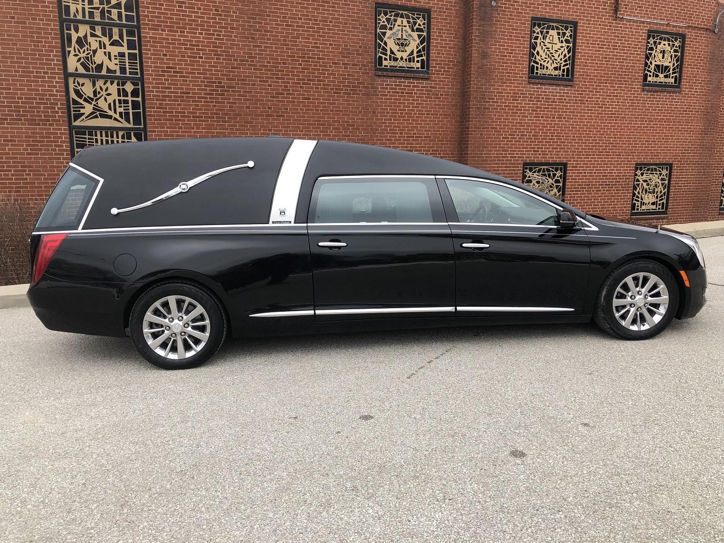 2017 Armbruster Stageway Black Funeral Coach for Sale Crown Landaulet 1