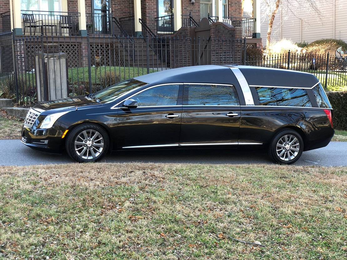 2014 Black Cadillac Armbruster Stageway Crown Regal Funeral Hearse Coach Car for sale