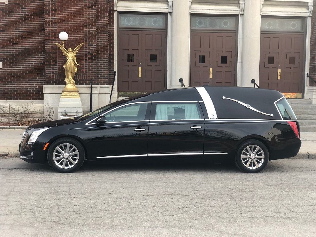 2014 Black Armbruster Stageway Crown Landaulet Funeral Coach Hearse for sale