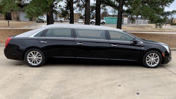 2015 Lehmann Peterson Black Six Door Raised Roof Funeral Limousine Car For Sale