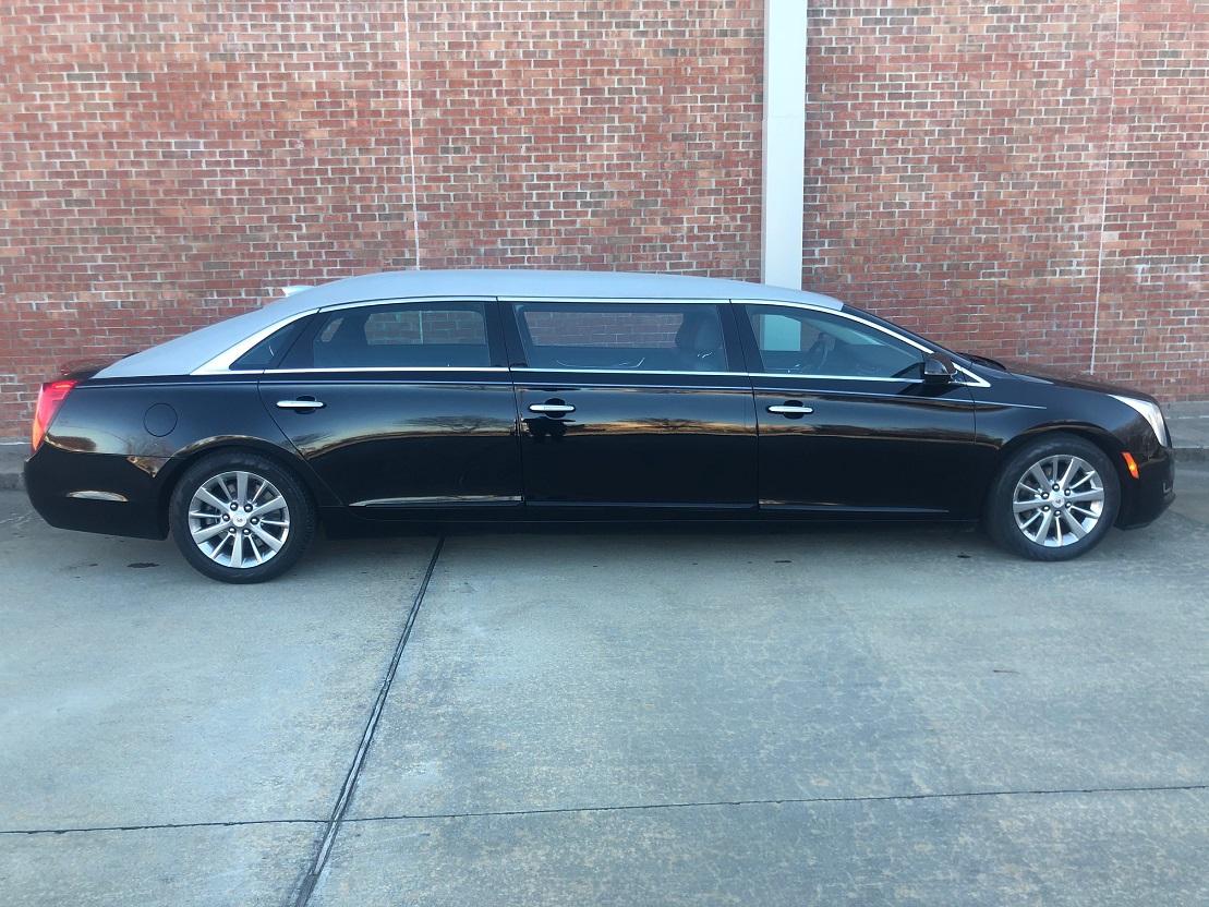 2015 Lehmann Peterson Raised Roof Black Six Door Funeral Limousine Car for sale