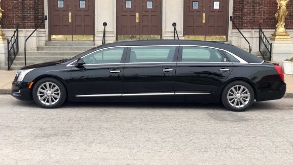 2015 Black Cadillac Armbruster Stageway Six Door Limousine Funeral Car For Sale
