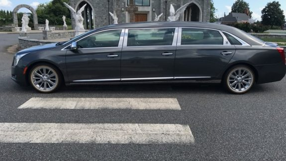 2015 Cadillac Armbruster Stageway - Six Door Limo For Sale - Academy Gray