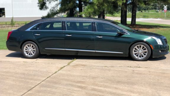 2017 Polo Green Six Door Armbruster Stageway Funeral Limousine For Sale