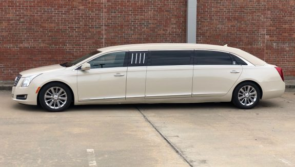 2014 Ivory Parchment Armbruster Stageway 70 Inch Funeral Used Limousine For Sale