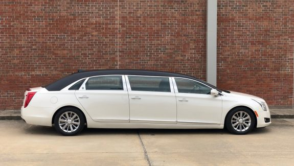 2016 Black Over White Diamond Armbruster Stageway Six Door Funeral Used Limousine For Sale