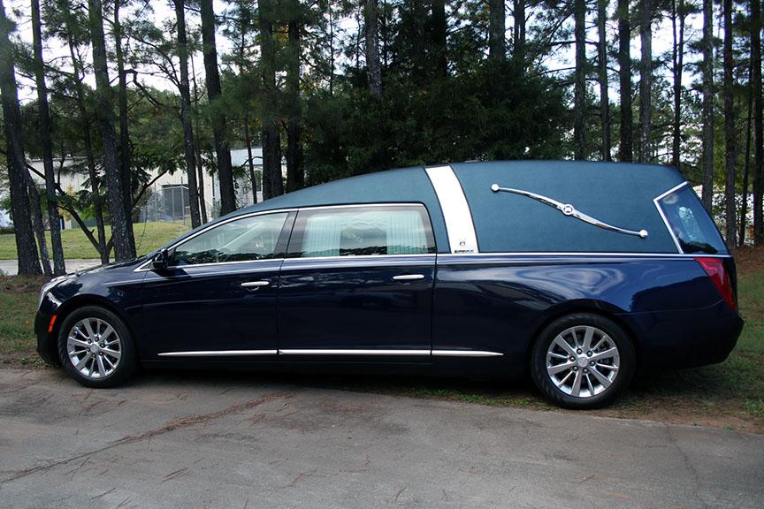 2016 Cadillac Armbruster Stageway - Crown Landaulet - Dark Adriatic Blue Used Hearse For Sale