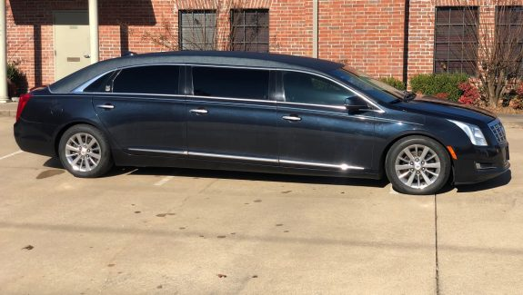2015 Dark Adriatic Blue Cadillac Armbruster Stageway Six Door Funeral Used Limousine For Sale
