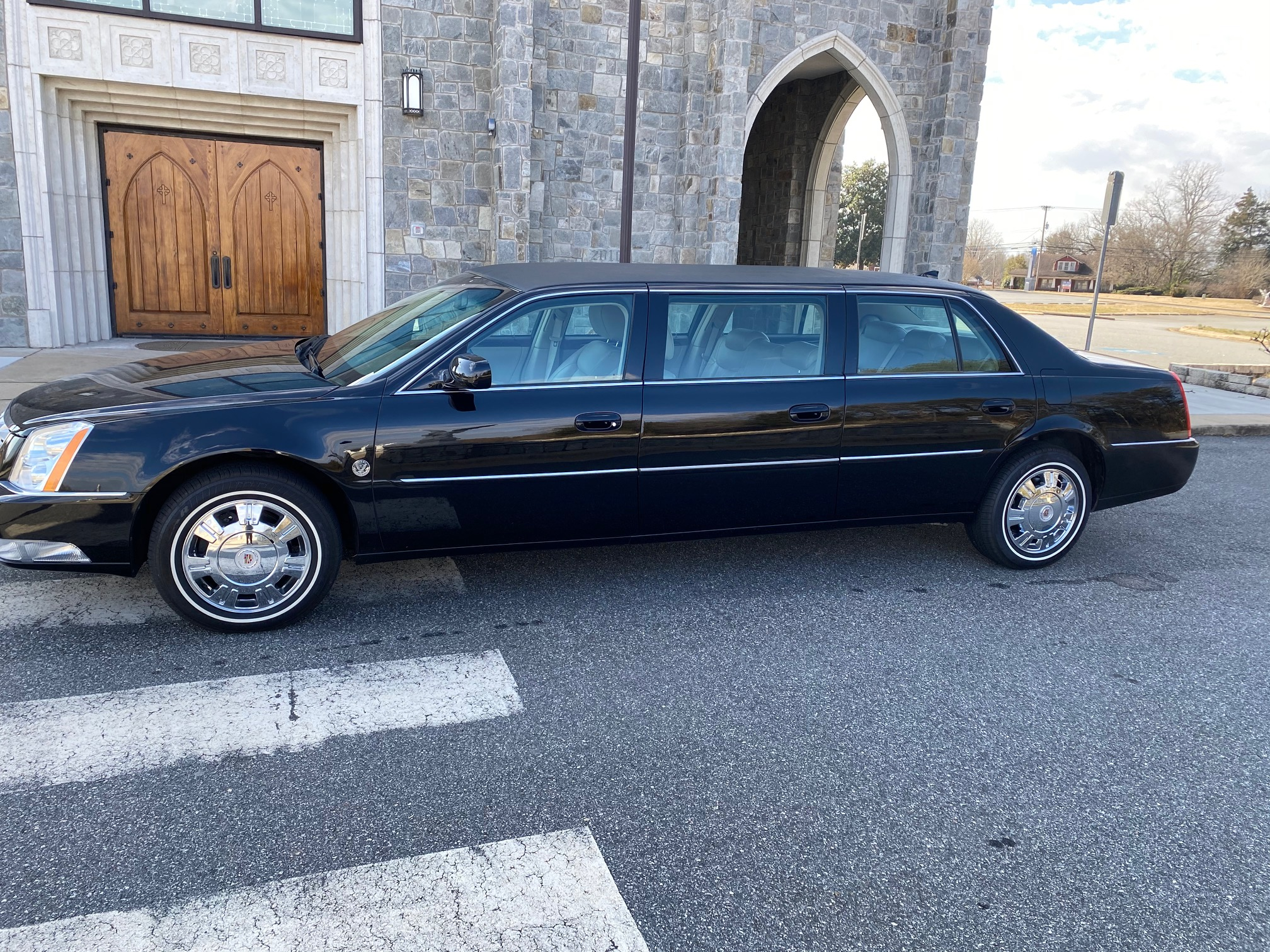 2010 Cadillac Federal Six Door Limousine with Shale Interior Used Limo For Sale