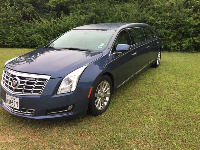 2014 Cadillac Armbruster Stageway - Six Door Limo - Medium Adriatic Blue Used Limo For Sale