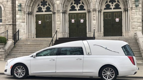 2016 Cadillac Armbruster Stageway - Crown Landaulet Hearse - Crystal White Used Hearse For Sale