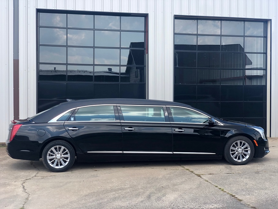 2017 Black Armbruster Stageway Cadillac Six Door Funeral Limousine For Sale
