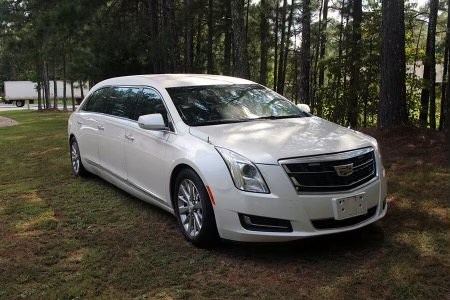 2016 Cadillac Armbruster Stageway - Six Door Limo - White Diamond - Used Limo For Sale